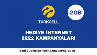 Photo of Turkcell Hediye İnternet 2222
