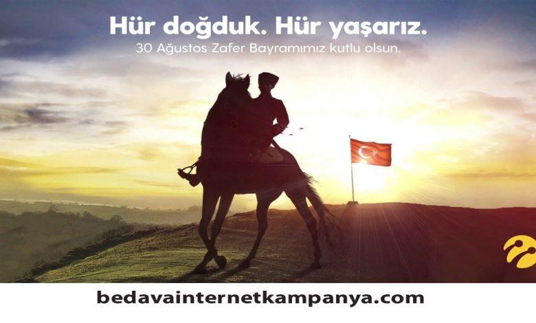 30 Ağustos Turkcell Bedava İnternet Hediyesi