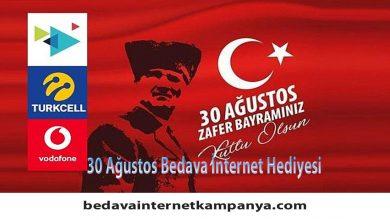 30 Ağustos Operatörlerden Bedava İnternet Hediyesi