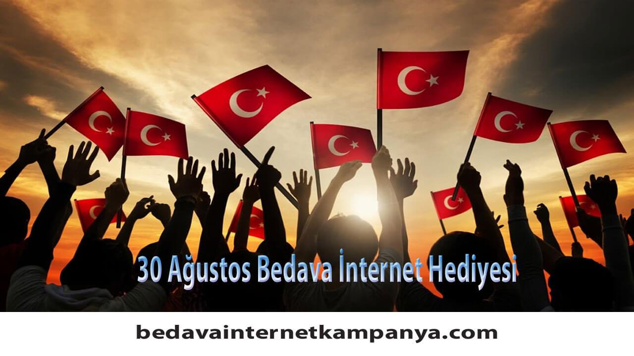 30 Ağustos Türk Telekom Bedava İnternet Hediyesi