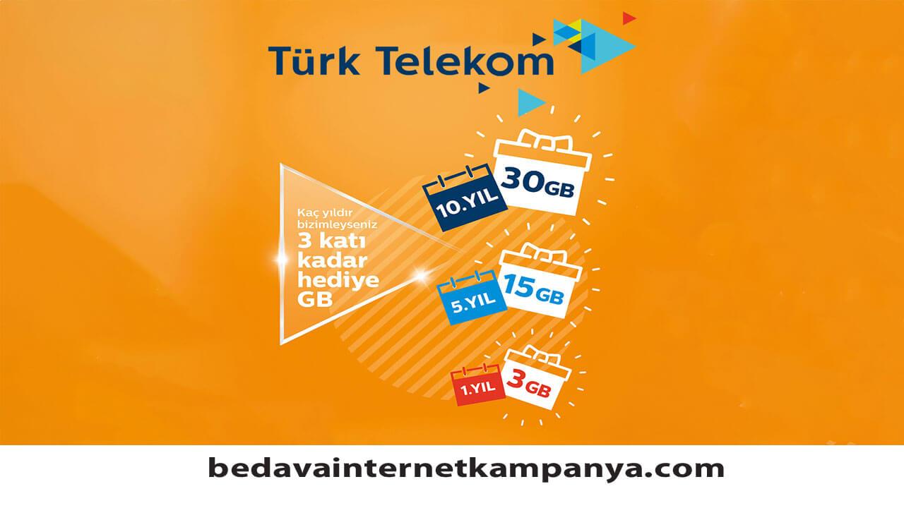 Türk Telekom Hediye İnternet 2020