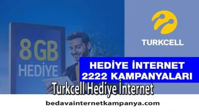 Photo of Turkcell Hediye İnternet 2020