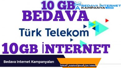 Photo of Türk Telekom 10 GB Bedava İnternet Kampanyası0 (0)