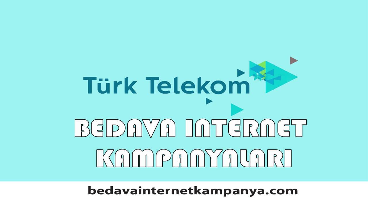 Türk Telekom Bedava İnternet Faturalı Hatlar için