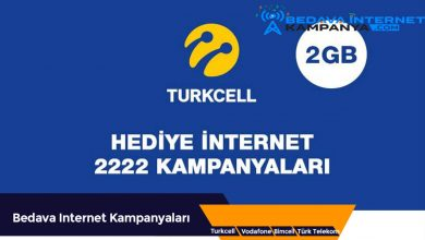 Photo of Turkcell Bedava İnternet 2222