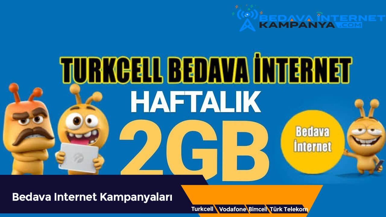 Turkcell Bedava İnternet 2222