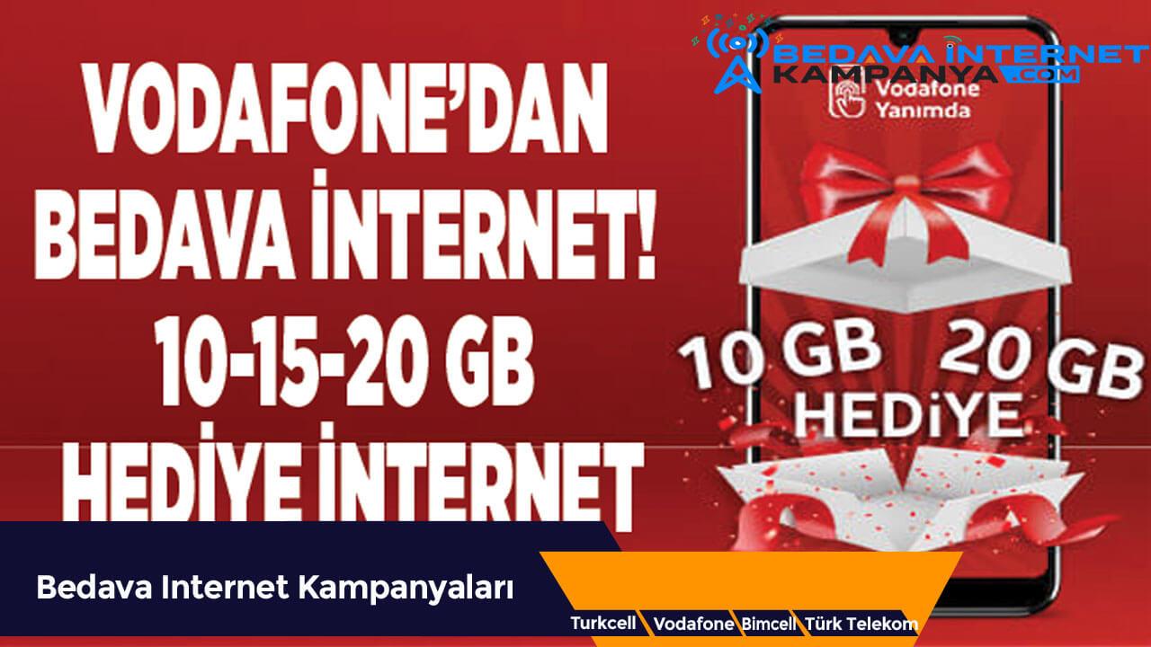 Vodafone 20 GB bedava internet