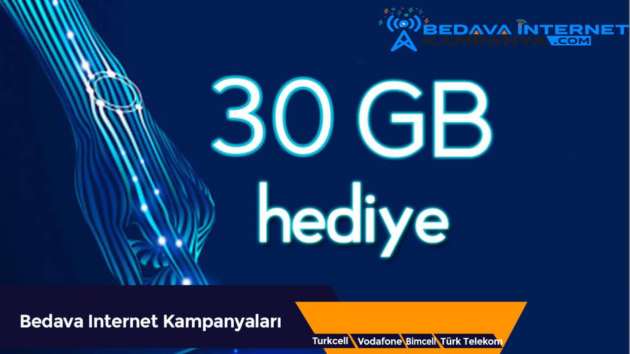 Türk Telekom 4.5G 30 GB Bedava İnternet Kampanyası