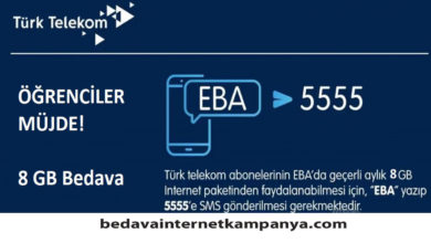 Photo of Türk Telekom EBA Bedava İnternet0 (0)