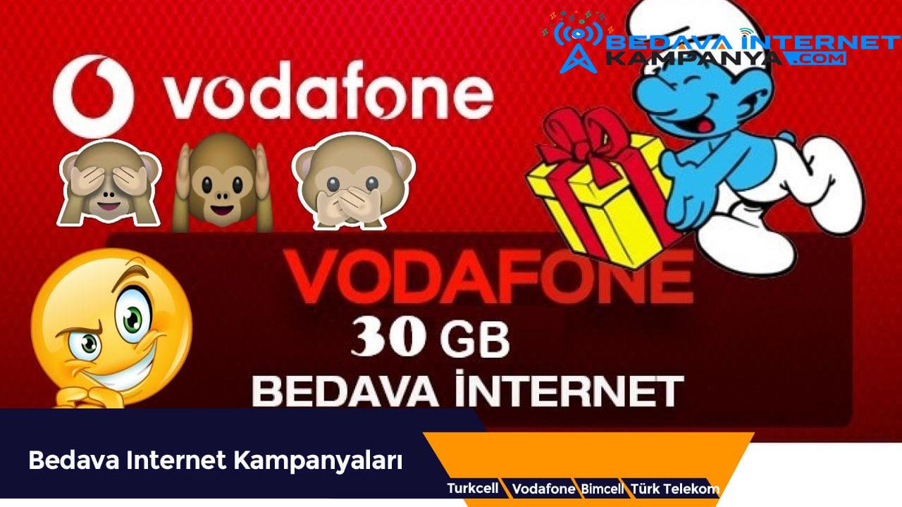 Vodafone 30 GB Bedava İnternet Kampanyası
