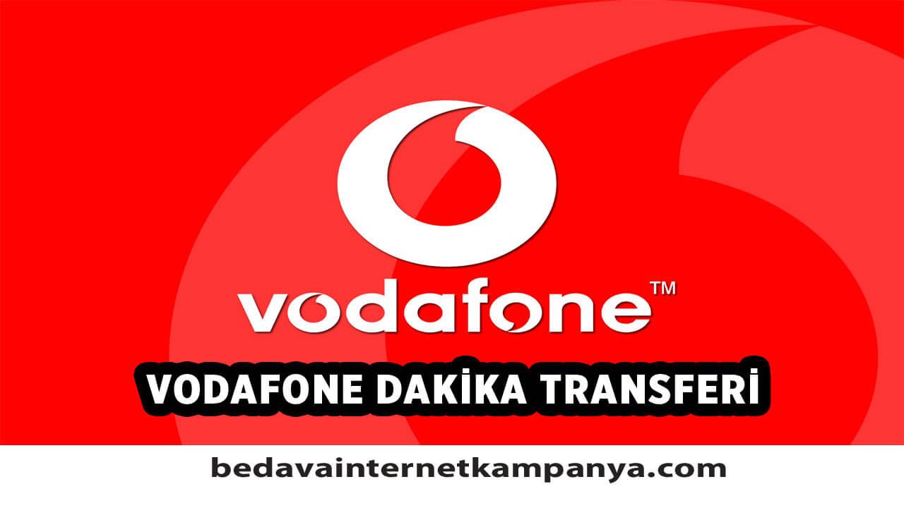 Vodafone Dakika Transferi Nasıl Yapılır?