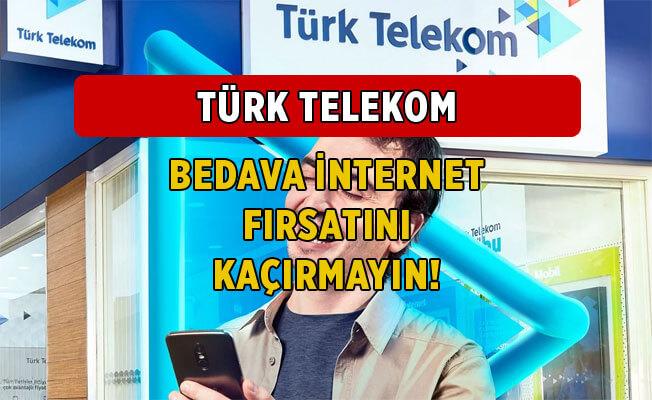 Kasım 2020 Türk Telekom Bedava İnternet Kampanyaları