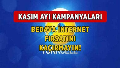 Kasım 2020 Turkcell Bedava İnternet Kampanyaları