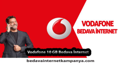 Vodafone 10 GB Bedava İnternet Kampanyası