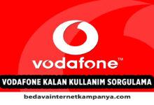 Vodafone Kalan Kullanım Öğrenme