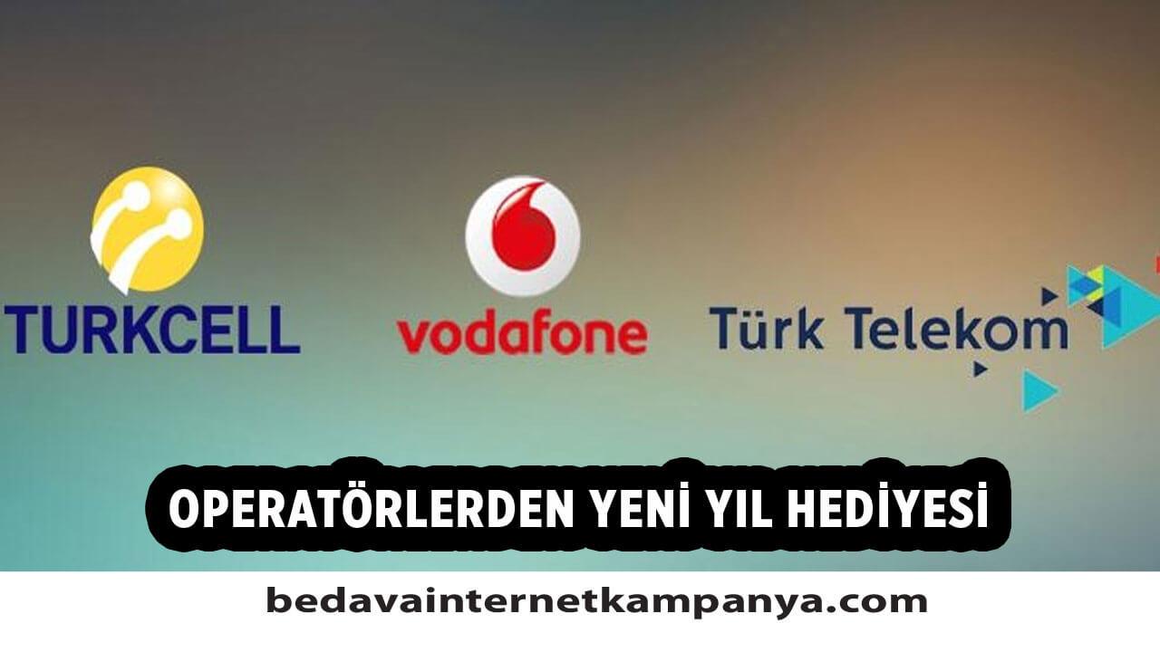 Turkcell, Türk Telekom, Vodafone ve Bimcell Yeni Yıl Hediyesi