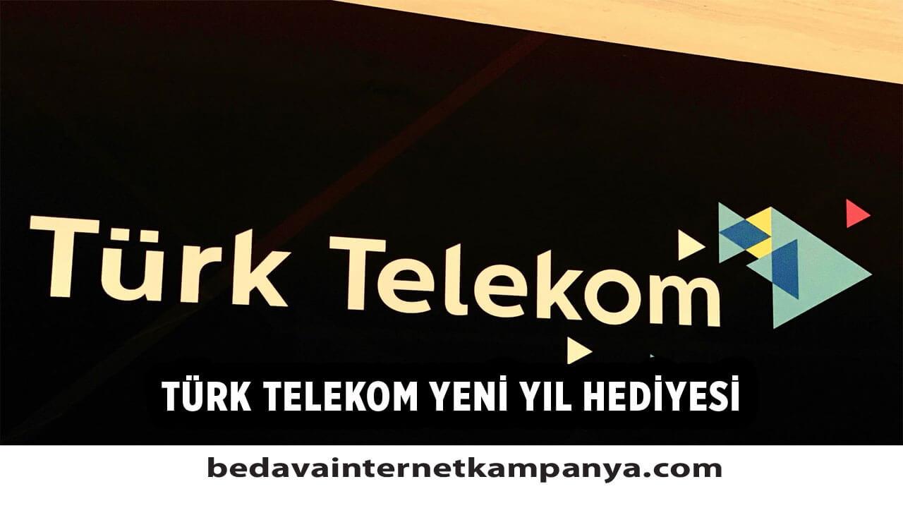 Türk Telekom 2021 Yılbaşı Hediyesi Bedava İnternet