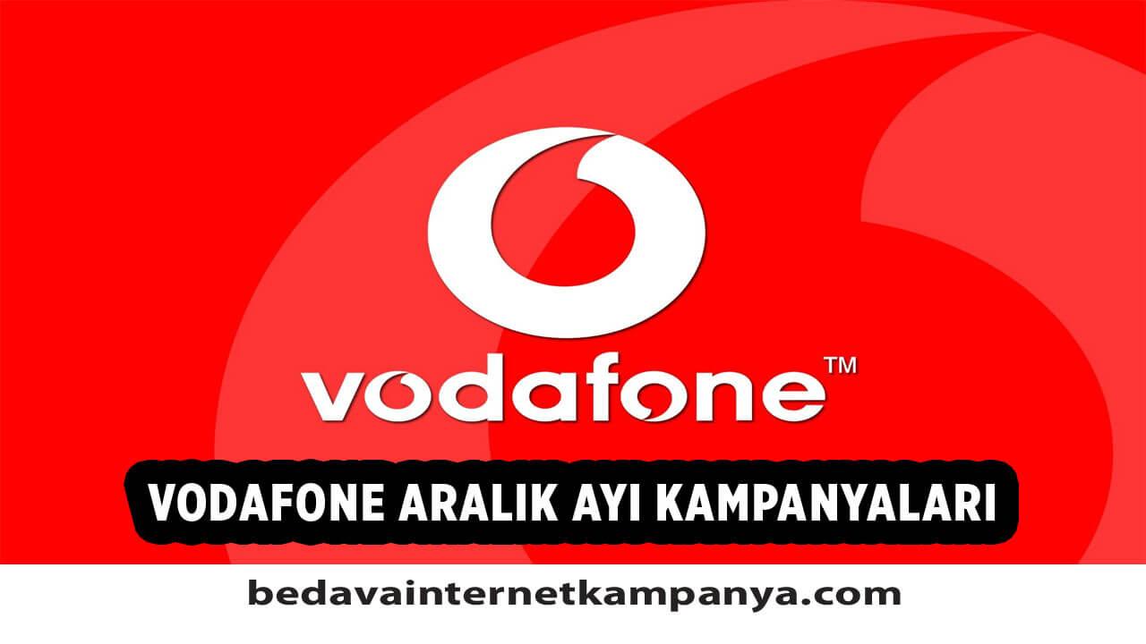 Aralık 2020 Vodafone Bedava İnternet Kampanyaları