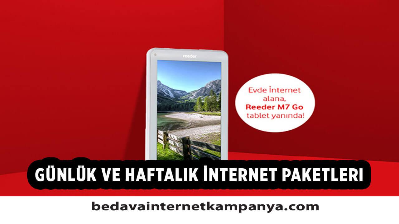Vodafone Pakete Ek Günlük ve Haftalık İnternet Paketleri
