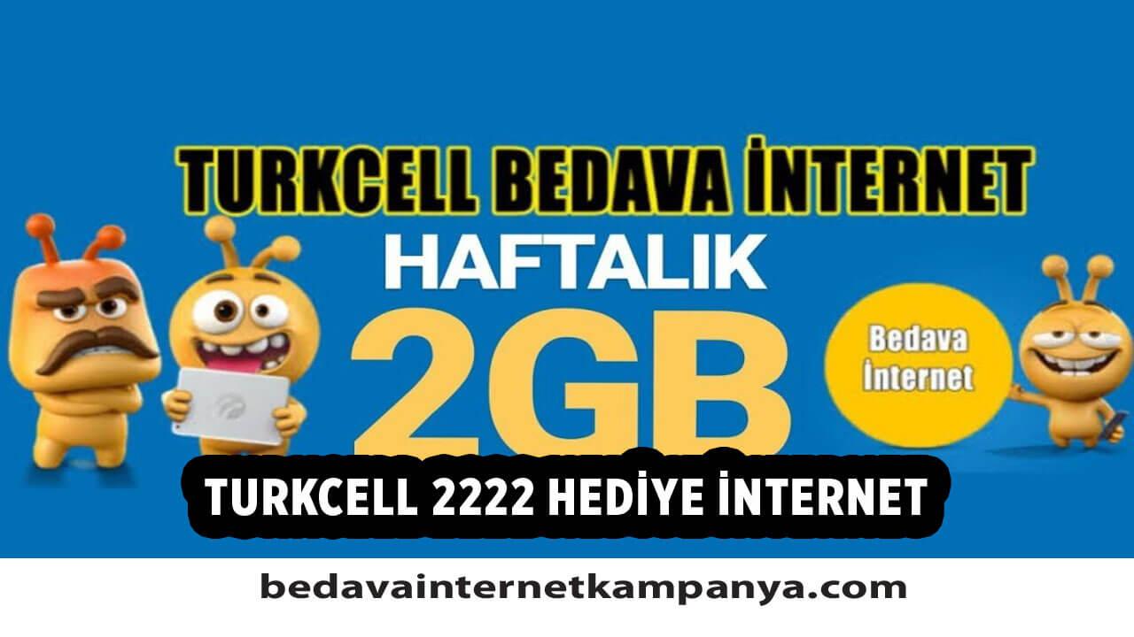 Turkcell 2222 Hediye İnternet Nasıl Alınır?