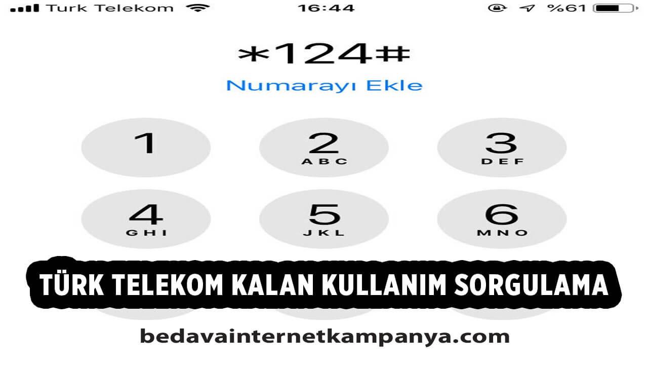 Türk Telekom Kalan Kullanım Öğrenme