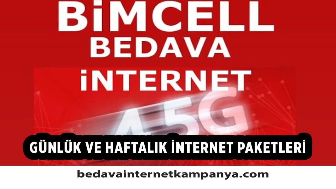 Bimcell Pakete Ek Günlük ve Haftalık İnternet Paketleri