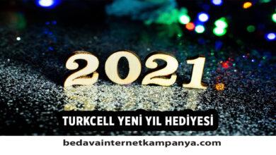 Turkcell 2021 Yılbaşı Hediyesi Bedava İnternet