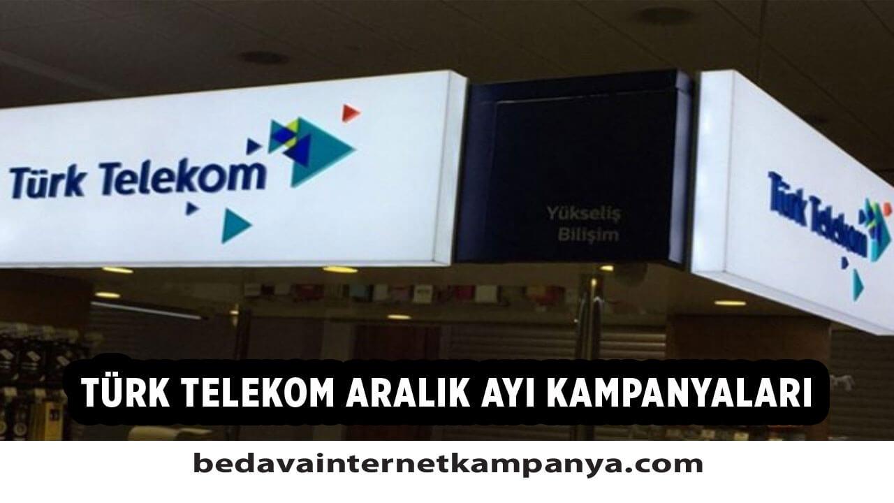 Aralık 2020 Türk Telekom Bedava İnternet Kampanyaları