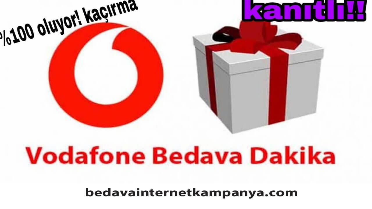 Vodafone Bedava Dakika 2021