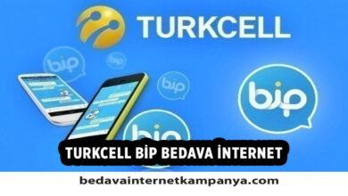 Turkcell Bip Bedava İnternet 2021